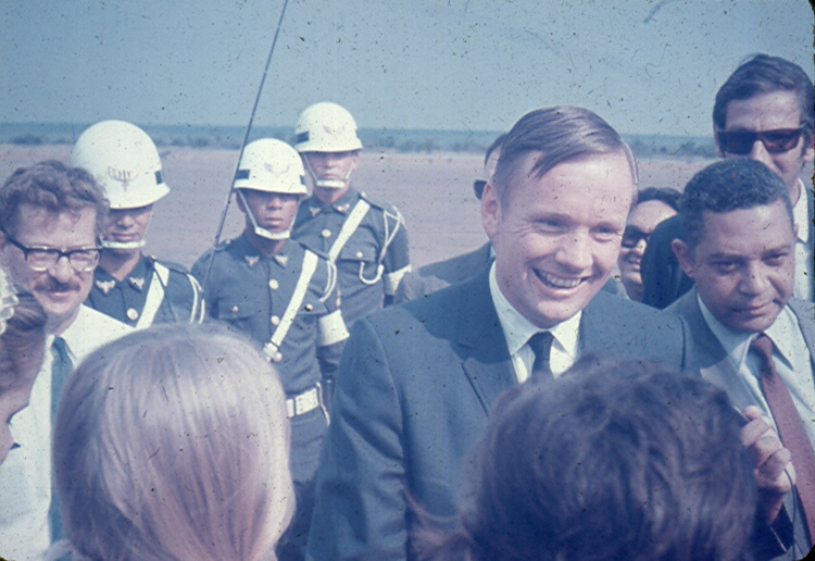 Al with Neil Armstrong after his Gemini Flight